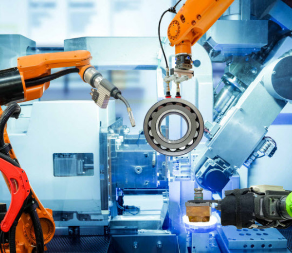 Industrial robotic welding and robot gripping