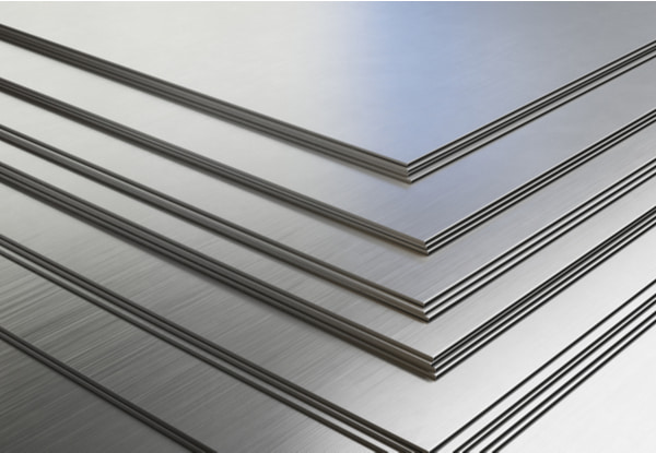 Aluminum sheets in warehouse