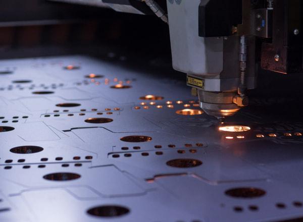 Laser machine cutting of sheet metal