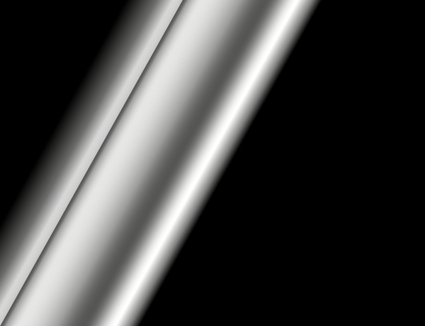Stainless steel tube or pipe on black background