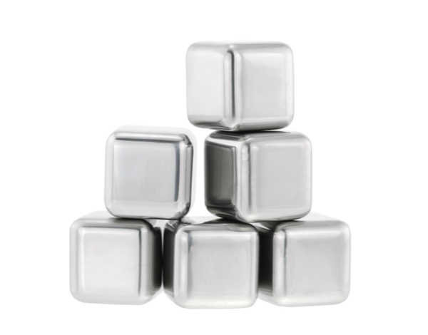 Stainless steel chilling fake ice cubes